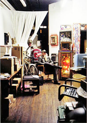 Clayton Patterson in his studio